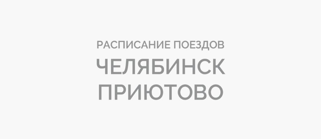 Поезд Челябинск - Приютово